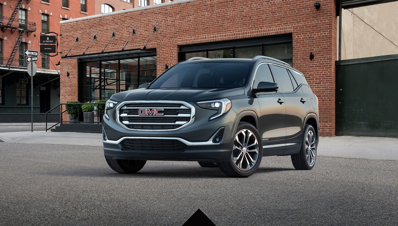 Get 16% below MSRP on most 2018 GMC Terrain small SUV models when you finance through GM Financial.
