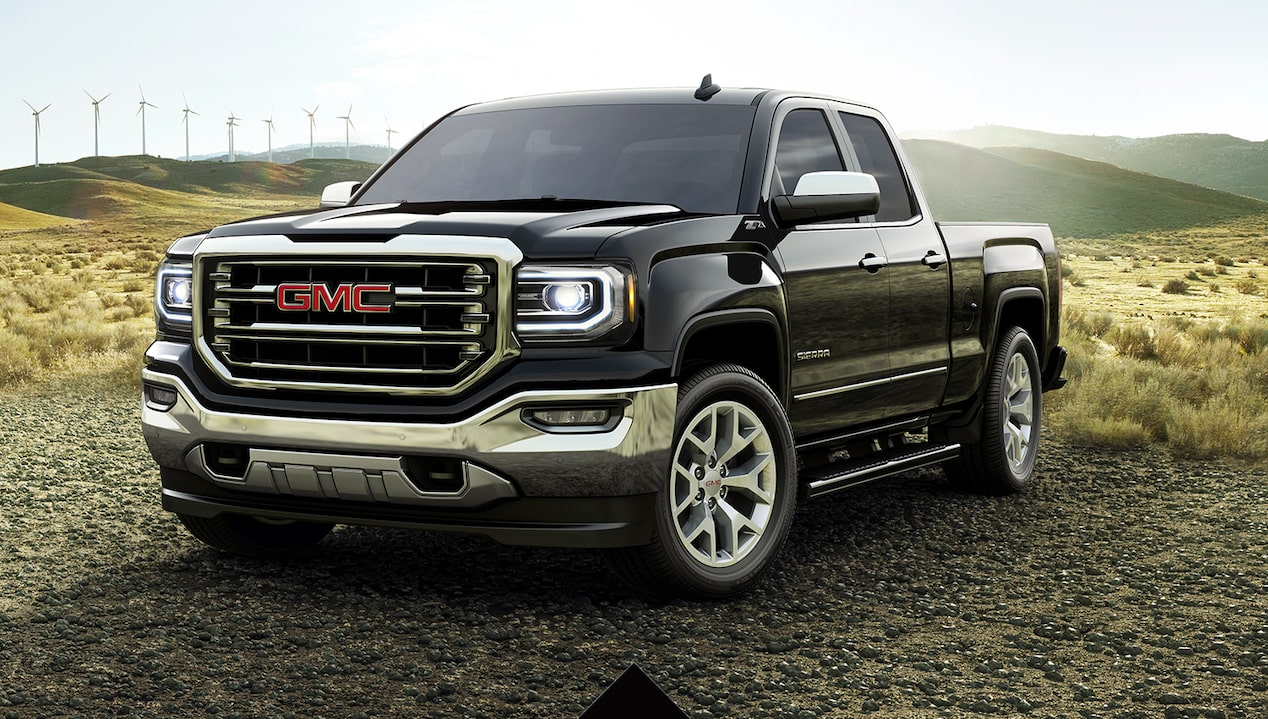 2018 GMC Sierra 1500 SLT edition light duty pickup truck.