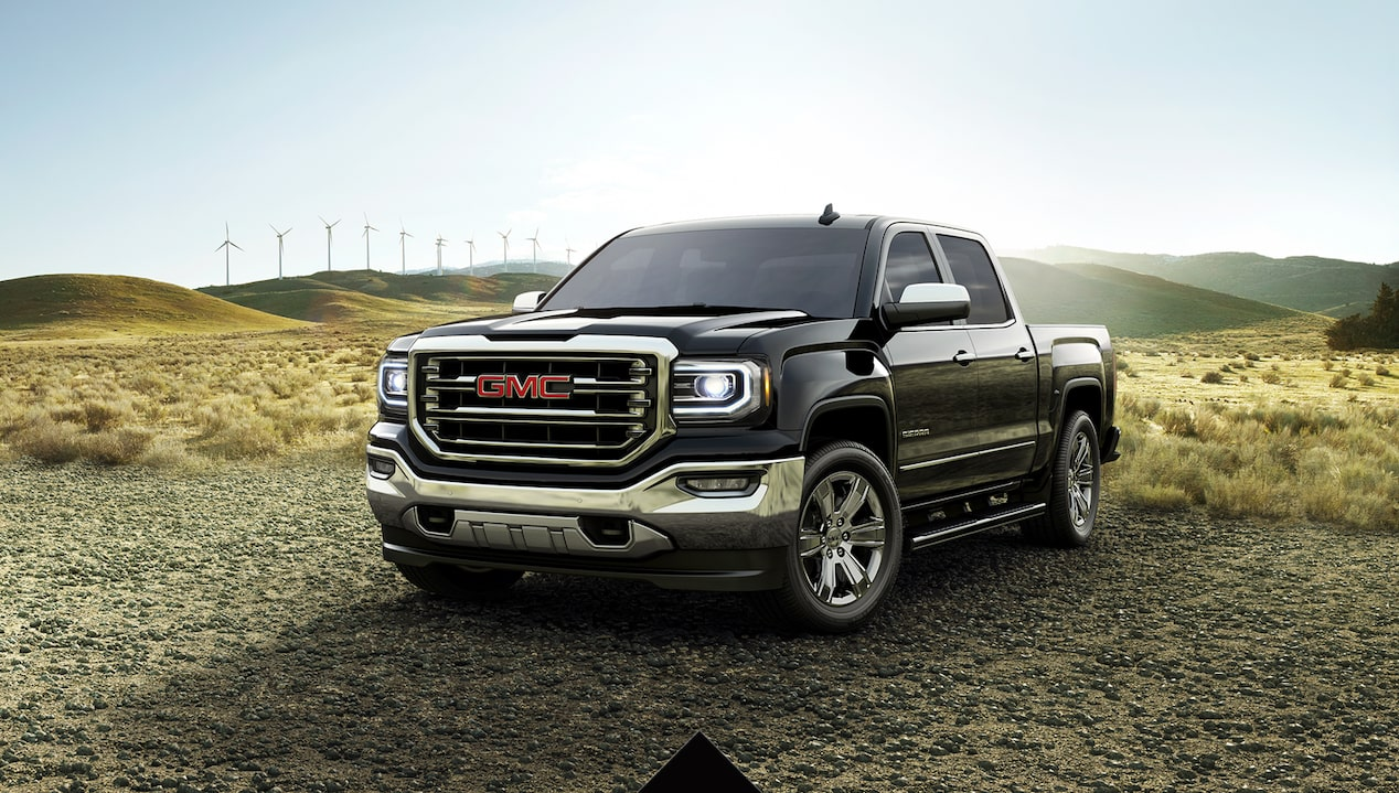 Get a great deal on the 2018 GMC Sierra 1500 2WD Crew Cab with SLT Premium Plus package.