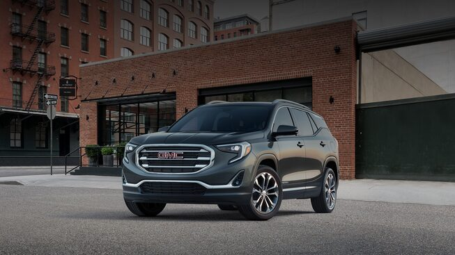 Image of the grille on the 2018 GMC Terrain.