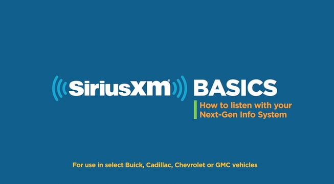 Click to watch a video about SiriusXM radio available for GMC vehicles.