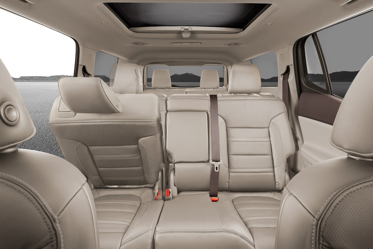 GMC life 2017 acadia reveal seating.