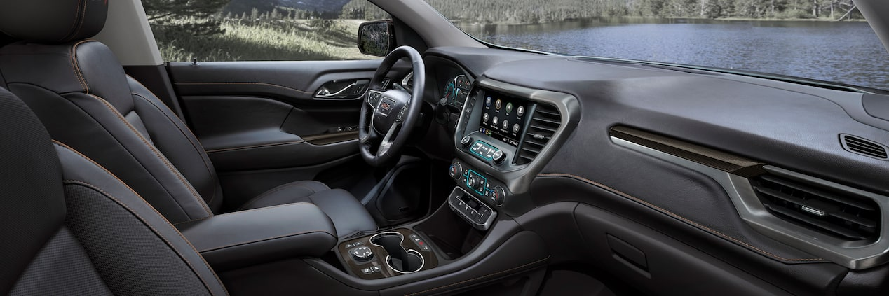 All-New 2020 GMC Acadia Mid-Size SUV Front Seat Interior