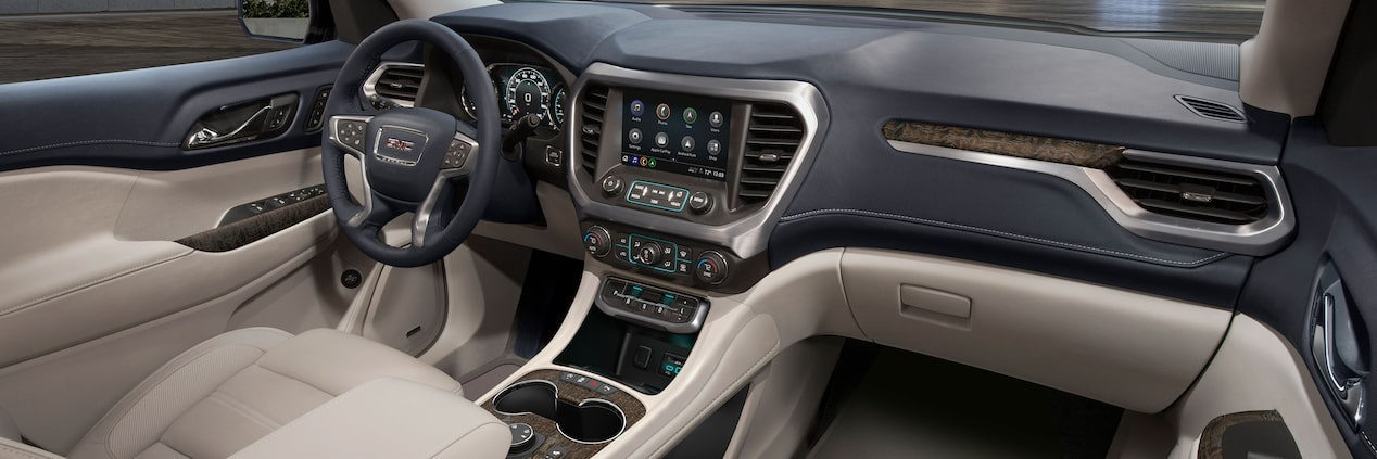 All-New 2020 GMC Acadia Mid-Size SUV Front Dash Interior