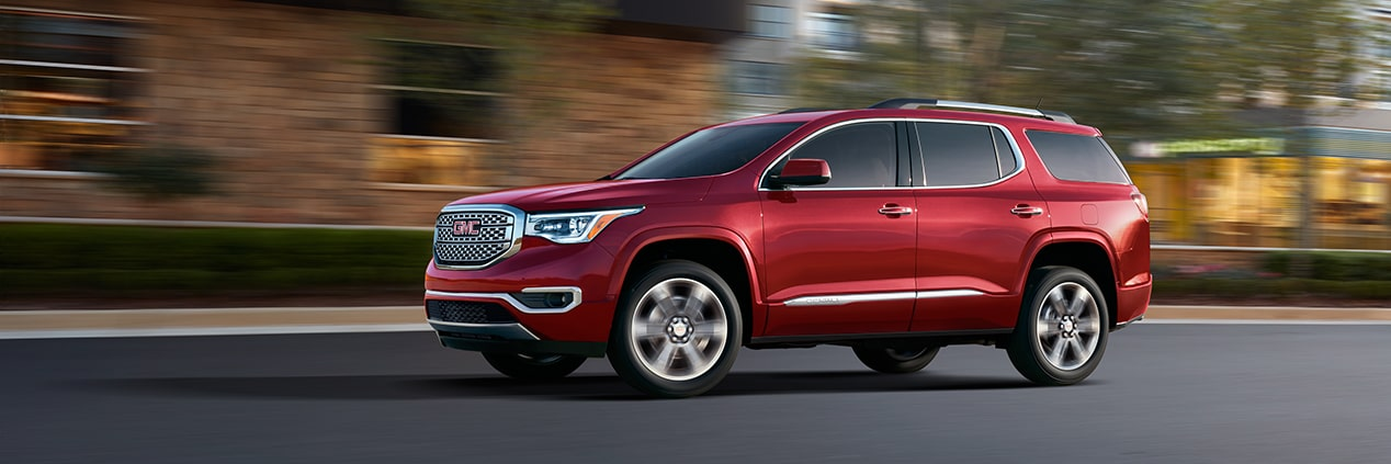 Image of the 2018 GMC Acadia Denali.