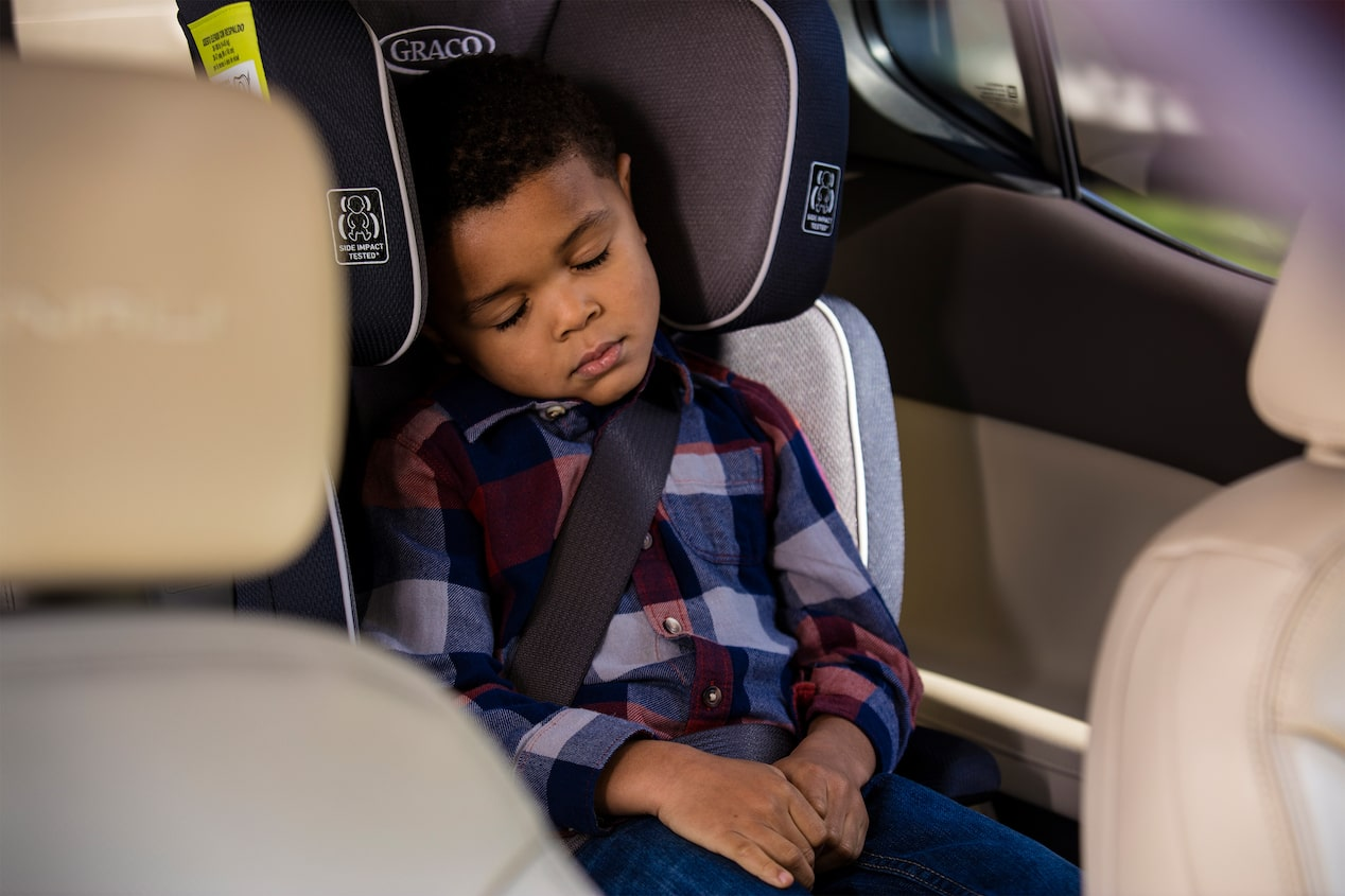GMC life acadia rear seat reminder son sleeping.