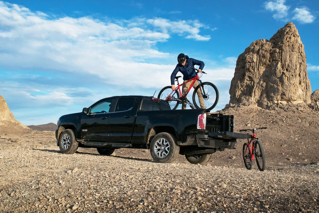 GMC life all terrain trucks bike mounting.