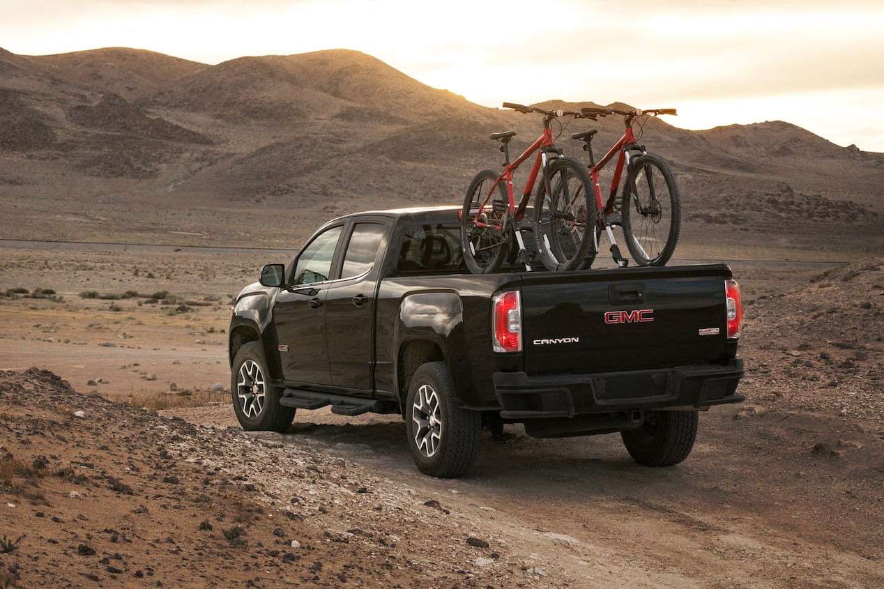 GMC life all terrain trucks bike racks.