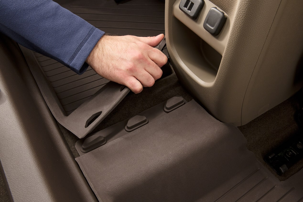 GMC life all weather floor liners rear mat.