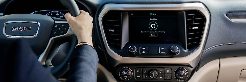 GMC SUV with Amazon Alexa Built In on Touch Screen