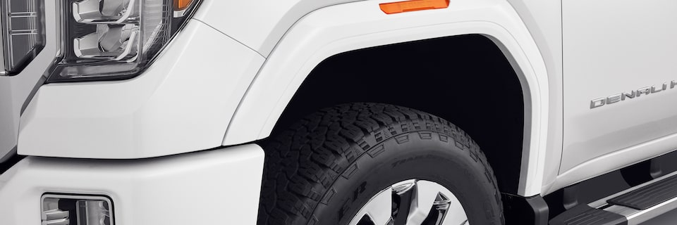 2020 GMC Sierra Denali HD Front Fender Flare Close-Up