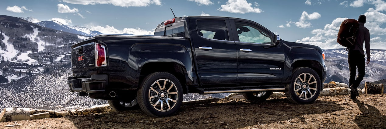 2019 GMC Canyon Denali Small Pickup Truck Side Exterior