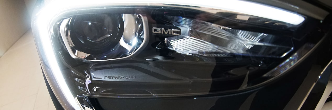 Image featuring GMC vehicles lighting.