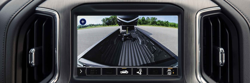 2021 GMC Sierra Rear Camera View with Trailer