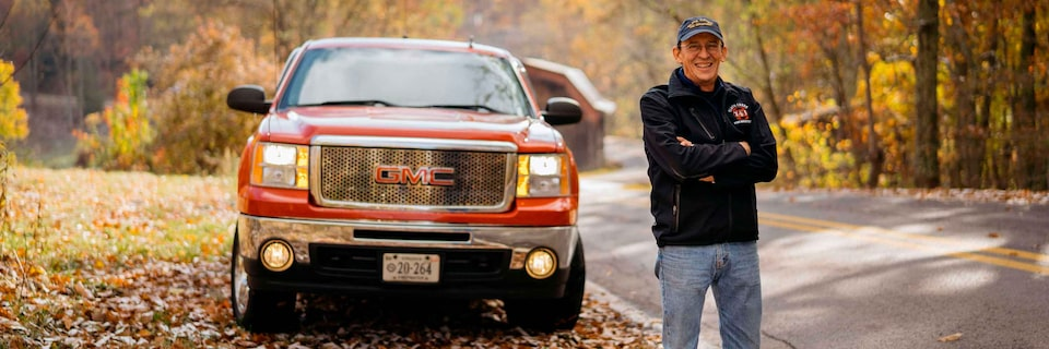 Eugene Rife with GMC Sierra Pickup Truck
