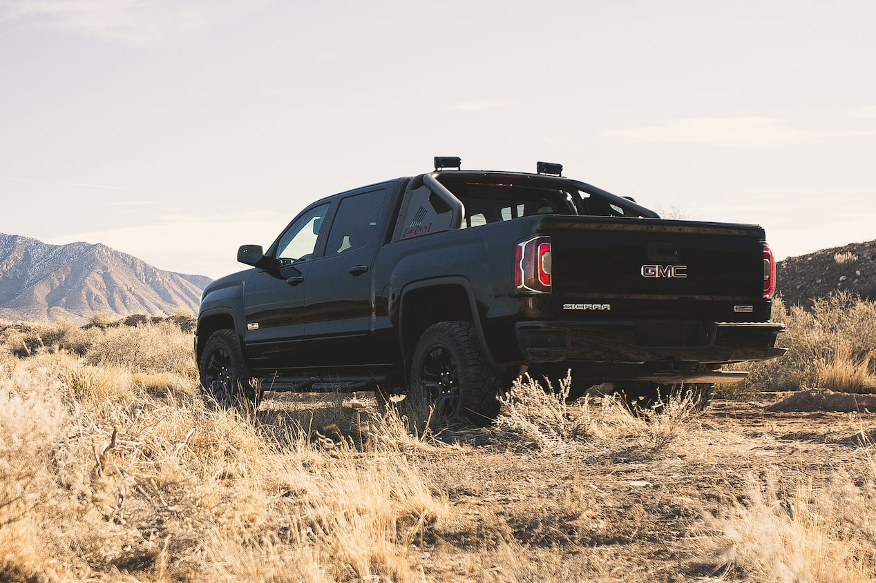 GMC life sierra 1500 all terrain desert black.