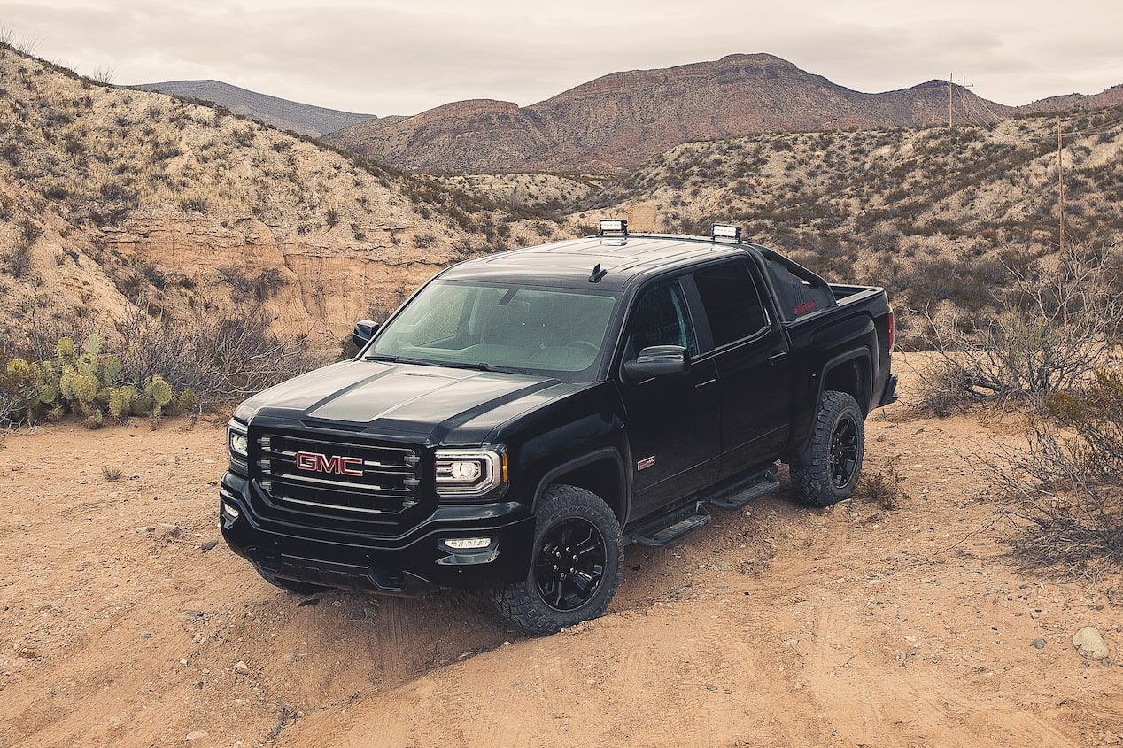 GMC life sierra 1500 all terrain top shot.