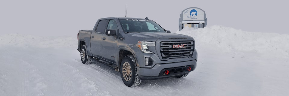 GMC Sierra AT4 off-road truck outfitted by the GMC Professional Grade Rally Team for the Alcan 5000gmc-life-alcan-winter-rally-lg-007.jpgAlcan 5000 South Alaskan Signgmc-life-alcan-winter-rally-masthead-lg-002.jpgGMC Sierra AT4 off-road truck and GMC Professional Grade Rally Team at the Arctic Circle for the Alcan 5000gmc-life-alcan-winter-rally-masthead-sm-002.jpgGMC Sierra AT4 off-road truck and GMC Professional Grade Rally Team at the Arctic Circle for the Alcan 5000