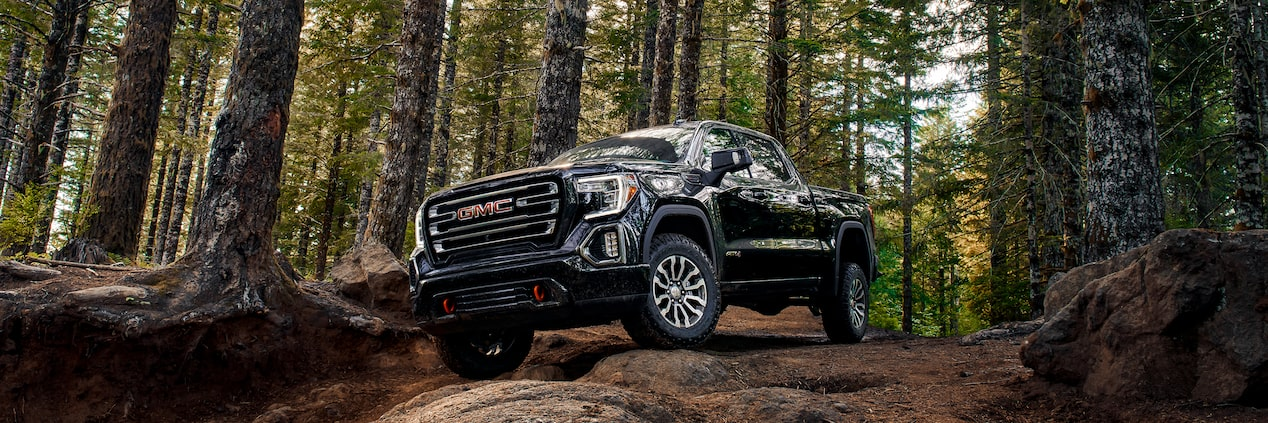 GMC Sierra Full-Size Pickup Truck AT4 Off-Road Package Front Side Exterior