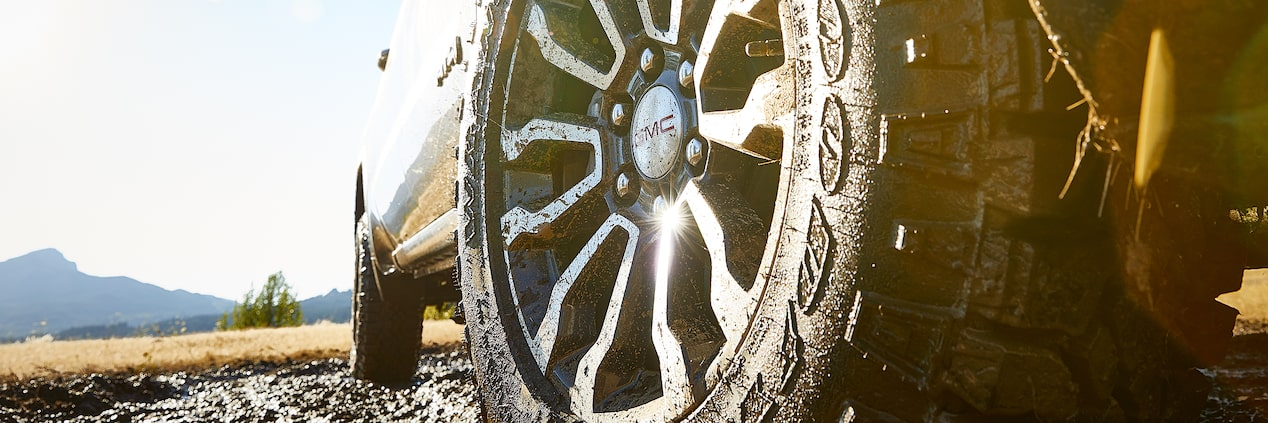 GMC Sierra AT4 Off-Road Package with 18-inch Goodyear Wrangler Duratrac Mud-terrain Tires