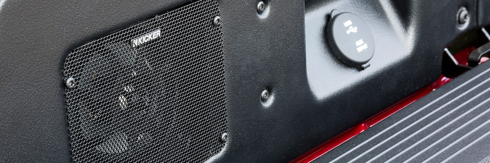 GMC Sierra MultiPro Tailgate Sound System Speakers