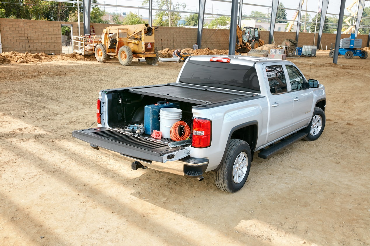 GMC life tonneau cover retractable.