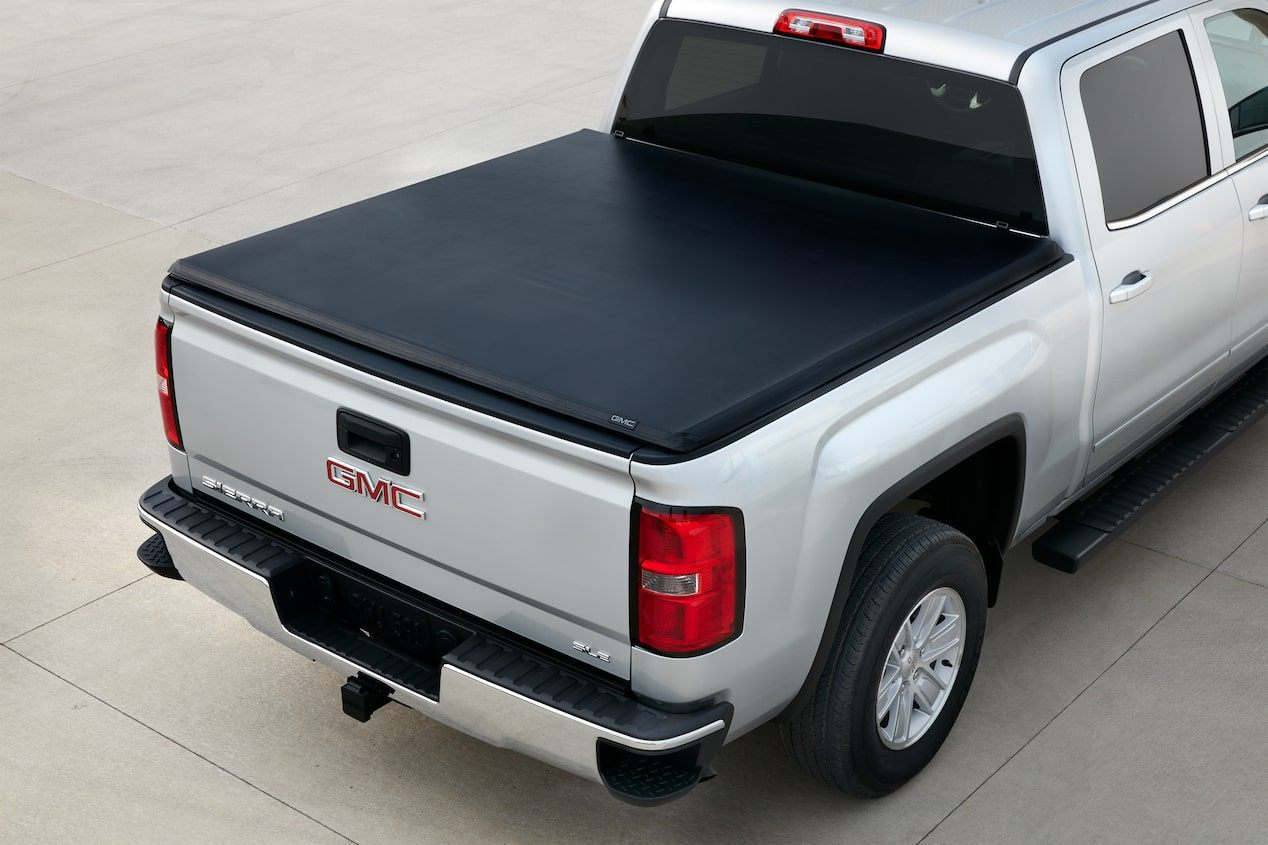 GMC life tonneau cover roll up cover.