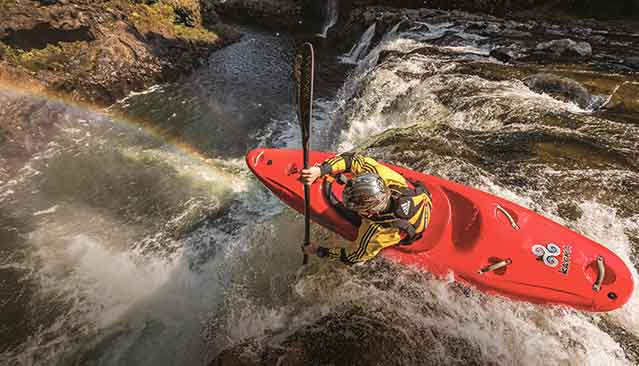 GMC Life: Rock Island Kayaking Aerial View