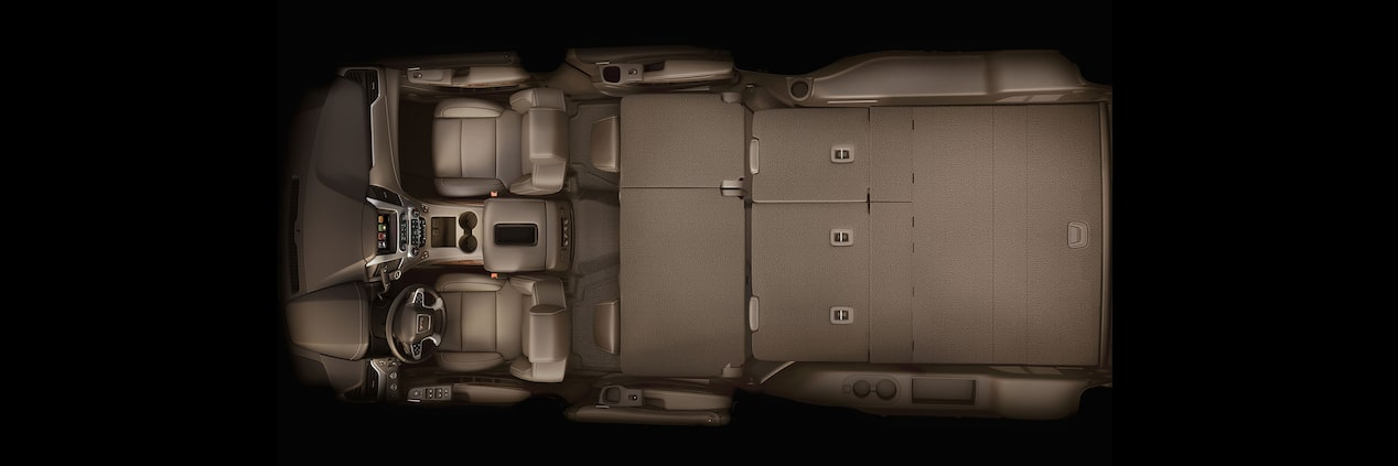 GMC Yukon with Fold Up and Tumble Rear Seats