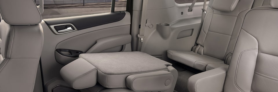 GMC Yukon Denali Seating Configuration with 2nd Row Seat Folded Down