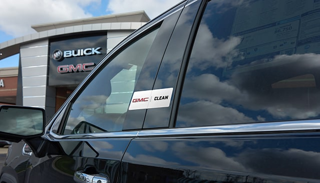 GMC Clean Sticker on GMC SUV