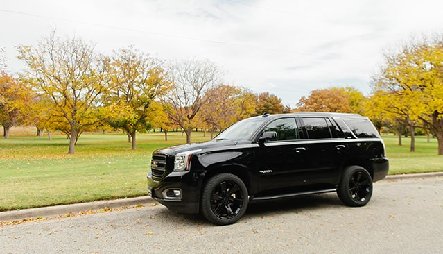 GMC Yukon Full-Size SUV with Blacked-out 22-inch Wheels