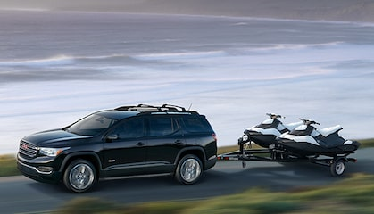 GMC LIFE: Acadia Mid-Size SUV Towing Jet Skis