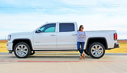GMC Life: Girl and Sierra Pickup Truck