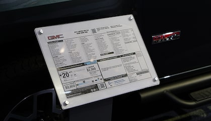 GMC life how to read window sticker related article.