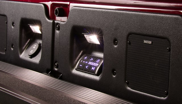 Kicker MultiPro Tailgate Audio System controls details