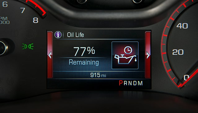 GMC life oil life monitor.