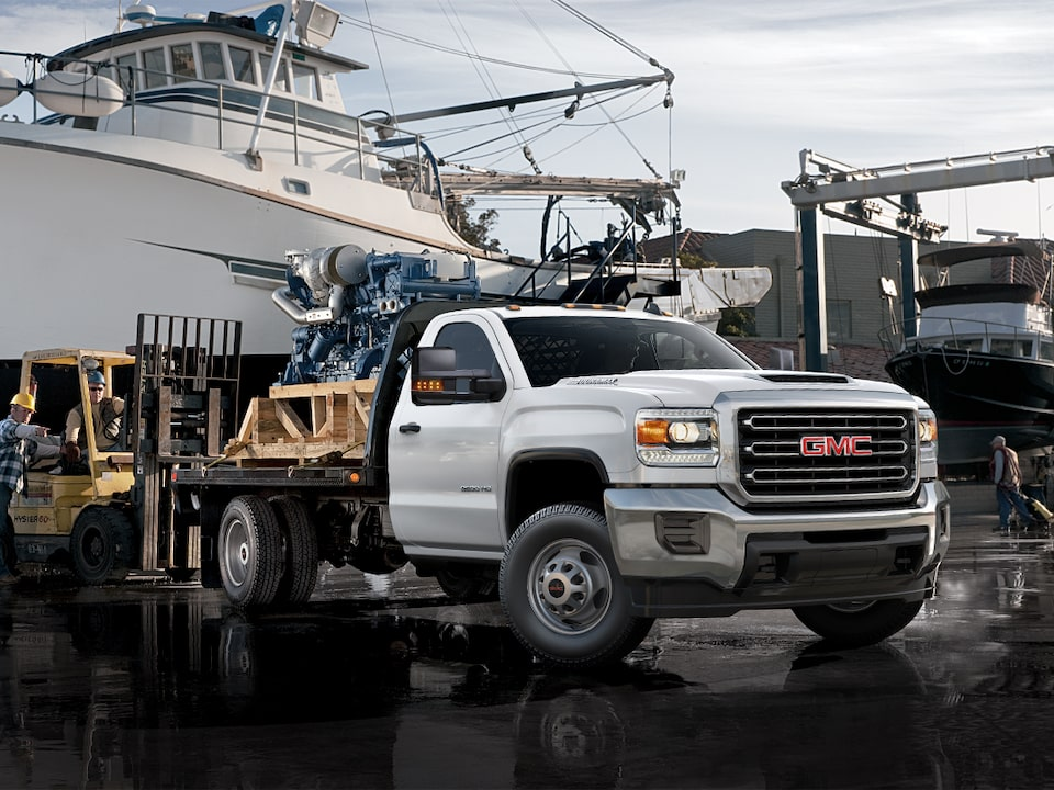 Image of a Sierra Chassis Cab truck at a GMC Business Elite Dealer.