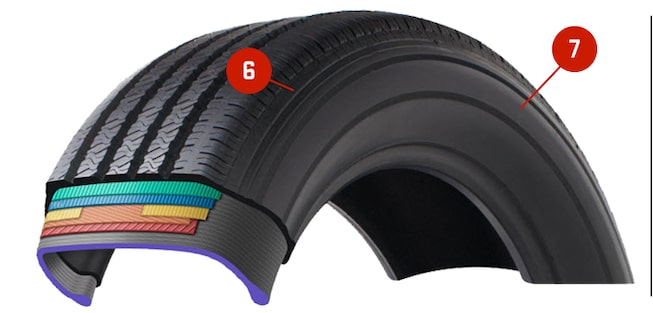 GMC tire side structures cutaway diagram