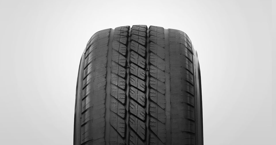 Underinflated tire wear example from GMC Certified Service