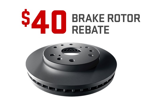 $40 rebate on GM Genuine Parts and ACDelco Brake Rotors from GMC Certified Service.