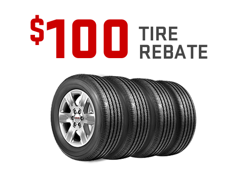 $100 rebate on a set of four tires from GMC Certified Service.