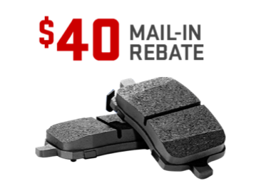 Earn a $40 mail-in rebate on the purchase and installation of GM Original Equipment Brake Pads from GMC Certified Service.