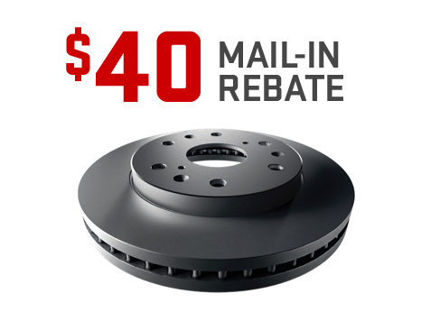 $40 mail-in rebate on GM Original Equipment Brake Pads from GMC Certified Service.