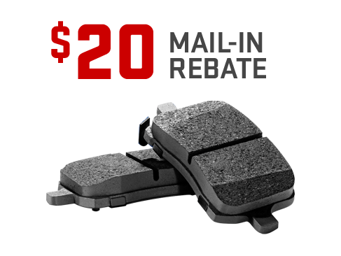 Earn a $20 or $10 mail-in rebate on the purchase and installation of ACDelco Brake Pads from GMC Certified Service.