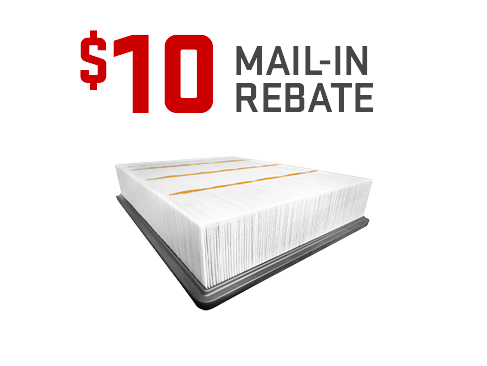 Earn a $10 mail-in rebate on the purchase and installation of a GM OE Engine Air Filter from GMC Certified Service.