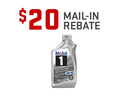 Earn a $20 mail-in rebate on the purchase of a Mobil 1 Oil Change from GMC Certified Service. Offer ends 1/31/20.