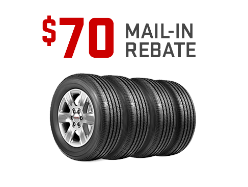 Earn a $70 mail-in-rebate on a set of 4 Firestone and Michelin from GMC Certified Service. Offer ends 11/30/19.