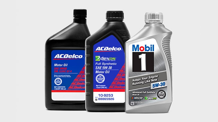 Selecting an oil brand from GMC Certified Service