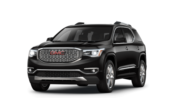 Image showing the 2018 GMC Acadia Denali Ultimate Black package.